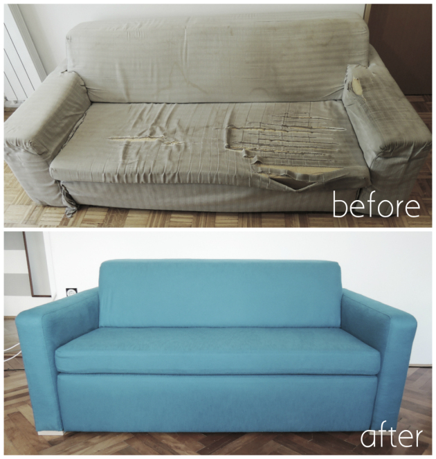 diy sofa reupholstering england stacy reviews remodelaholic | 28 ways to bring new life an old