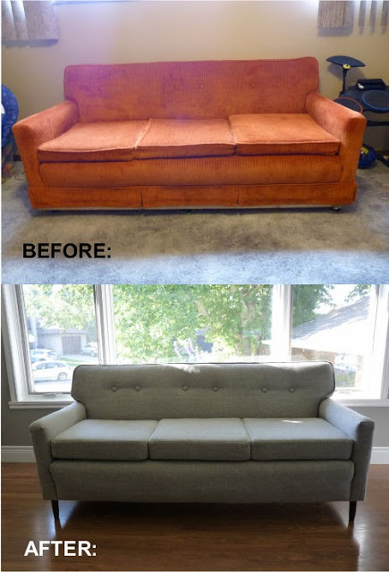 how to reupholster a sofa no sew modern chair dimensions remodelaholic | 28 ways bring new life an old