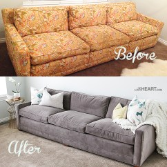 Reupholster Sofa In Leather Bernhardt Brae Remodelaholic | 28 Ways To Bring New Life An Old