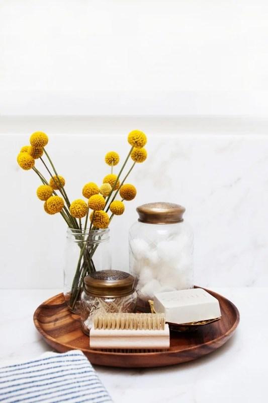 round wood vanity organizing tray mydomaine