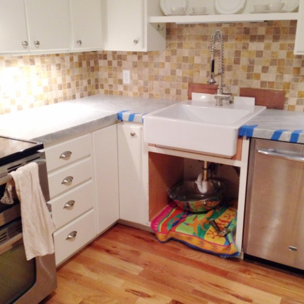 self-install marble tile countertop, budget friendly DIY countertop idea