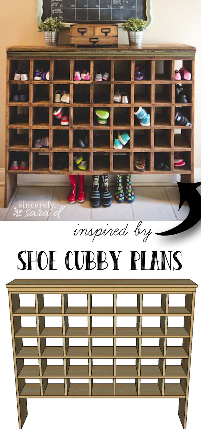 Inspired By A Vintage Mail Sorter, This DIY Shoe Cubby Is The Perfect Piece  Of