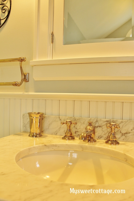 12 how to keep the authentic feel when restoring an old home, vintage-inspired bath fixtures, My Sweet Cottage featured on @Remodelaholic