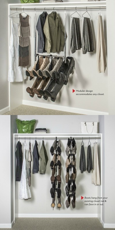 Amazing boot storage idea! This could be life-changing
