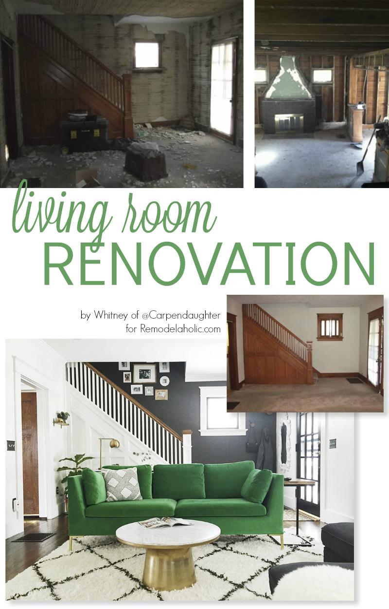 Remodelaholic | Before/After Living Room Renovation