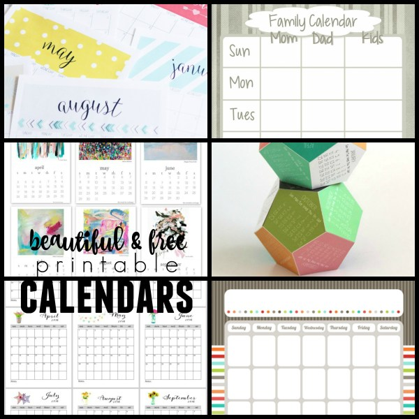 Best free printable calendars for 2016 @Remodelaholic
