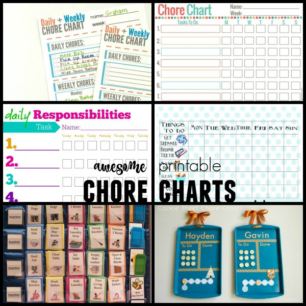 Best printable chore charts for kids and families @Remodelaholic