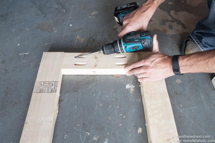 Easy DIY bike rack tutorial to organize your garage NOW! Remodelaholic.com via heatherednest.com