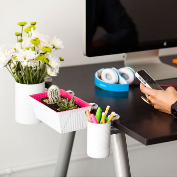 DIY clip-on desk organizers via Brit + Co