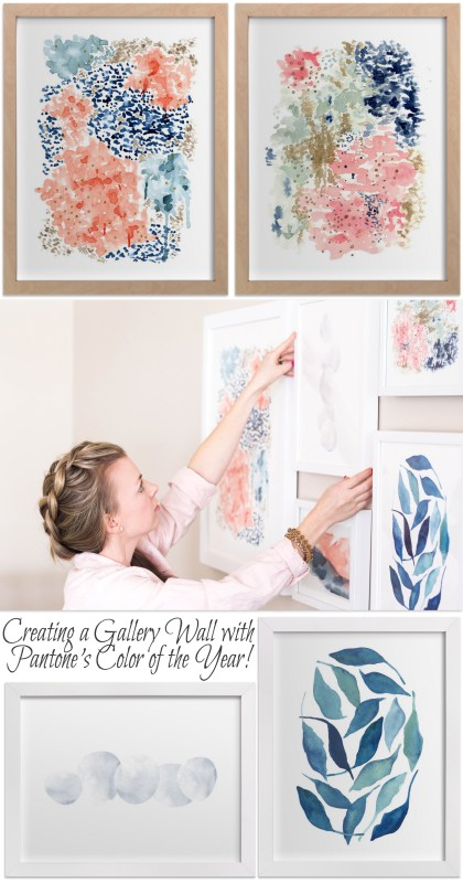 How To Bring The Color Of The Year Into Your Home With Minted Art @remodelaholic