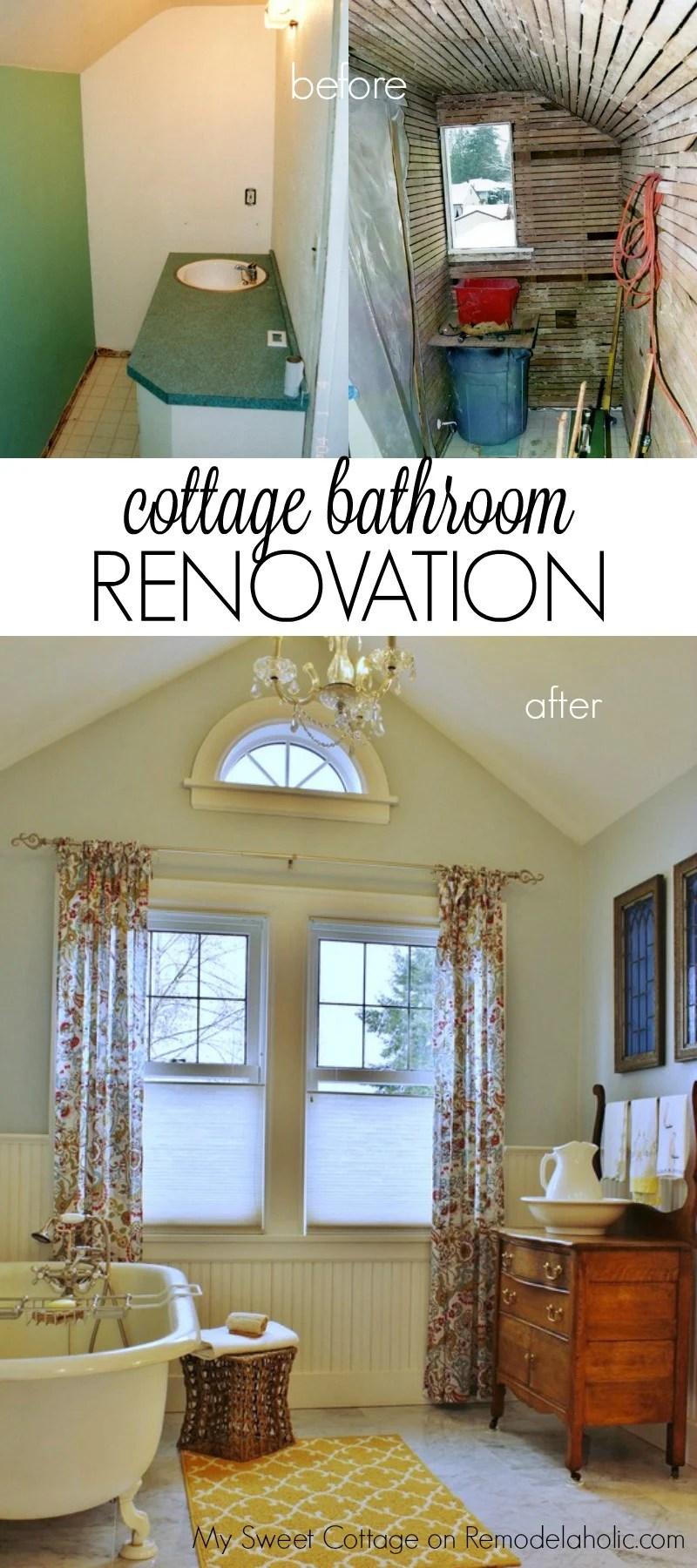 Remodelaholic  Gorgeous 1920s Cottage Master Bathroom Addition