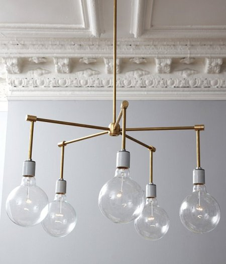 brass chandelier diy lamp parts