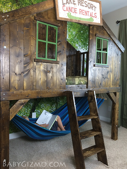 camping clubhouse loft bed kids diy