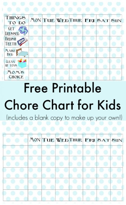 chore chart to make your own job tracker for kids, Classy Clutter