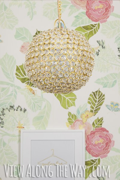 diy crystal ball chandelier from tea light holder