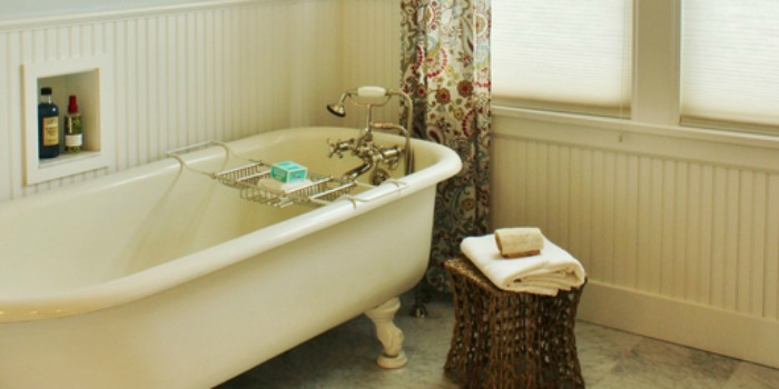 Remodelaholic  Gorgeous 1920s Cottage Master Bathroom
