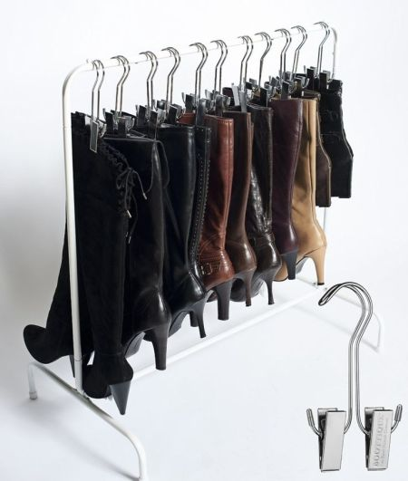 hanging boots @ remodelaholic