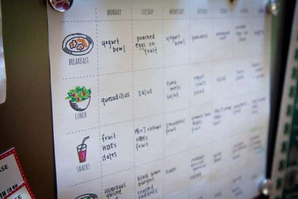 menu and exercise planner - simple but effective, Back to Her Roots