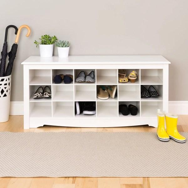 shoe cubby benc organizer