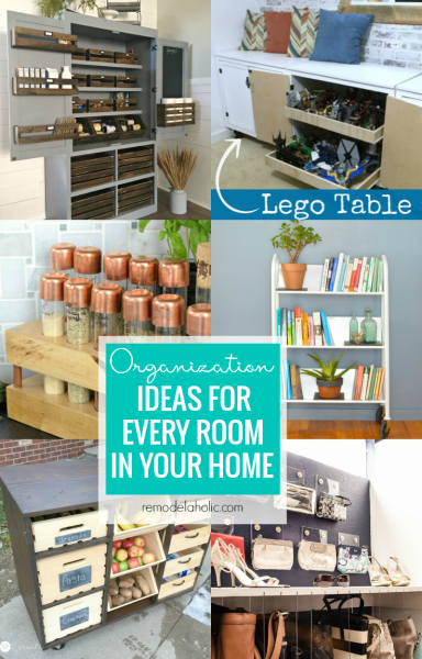 Awesome Room Organization Ideas Some For Every Problem Area @Remodelaholic