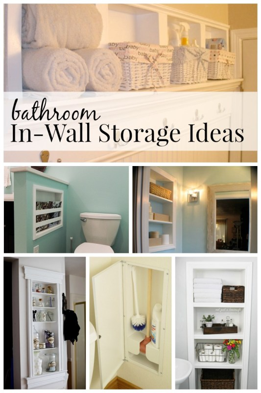 Bathroom In-Wall Storage Ideas
