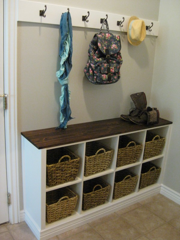 Built-in cubby organizer. Every home needs one of these by the back door!