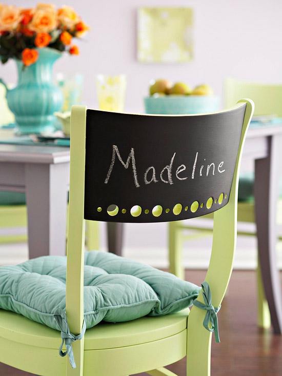 Chalkboard Chair Backs