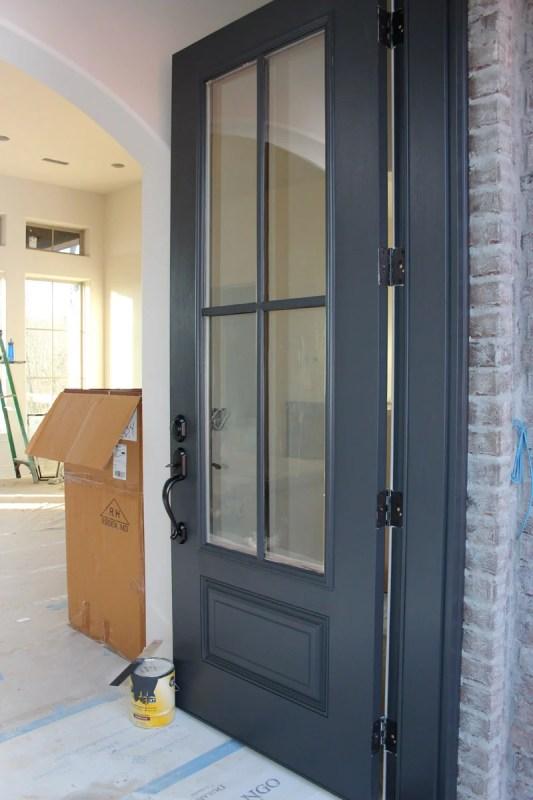 Door Color is Wrought Iron Benjamin Moore. Remodelaholic