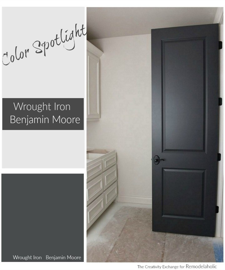 Remodelaholic Color Spotlight Benjamin Moore Wrought Iron