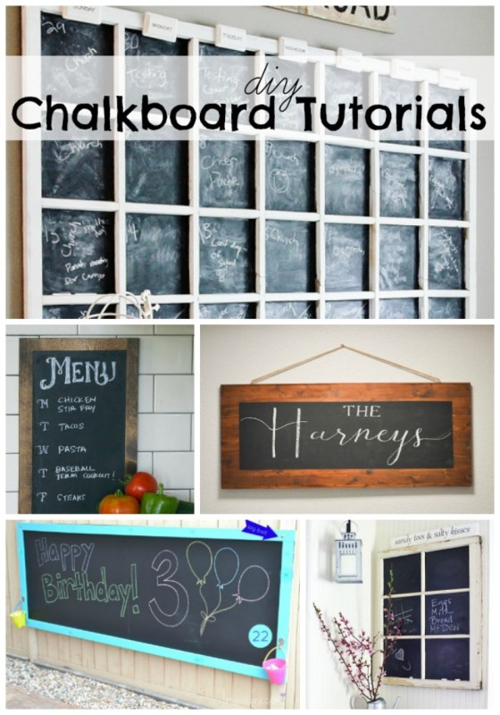 DIY Chalkboard Tutorials and Ideas at remodelaholic.com