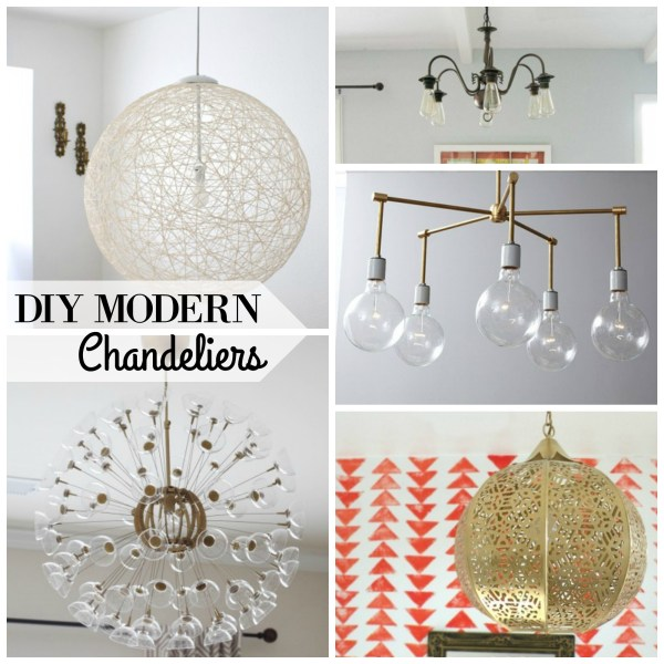 DIY MODERN Chandeliers via remodelaholic.com