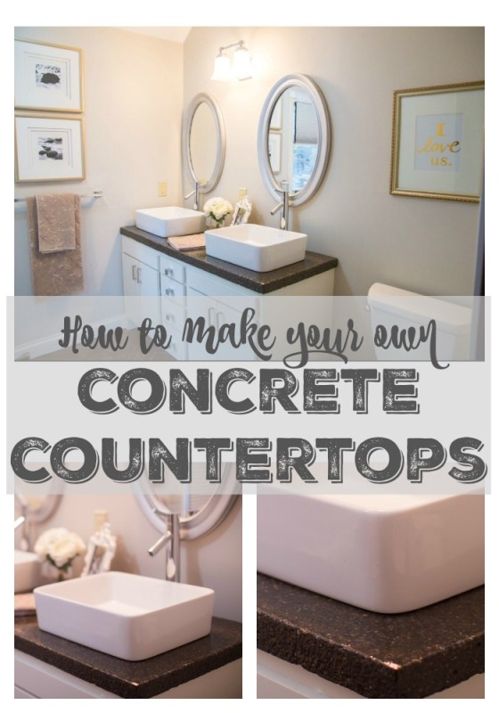 DIY concrete countertops Construction2Style on @Remodelaholic