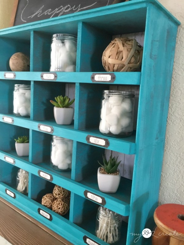 DIY cubby display organizer made from old drawers Mylove2create for My Repurposed Life