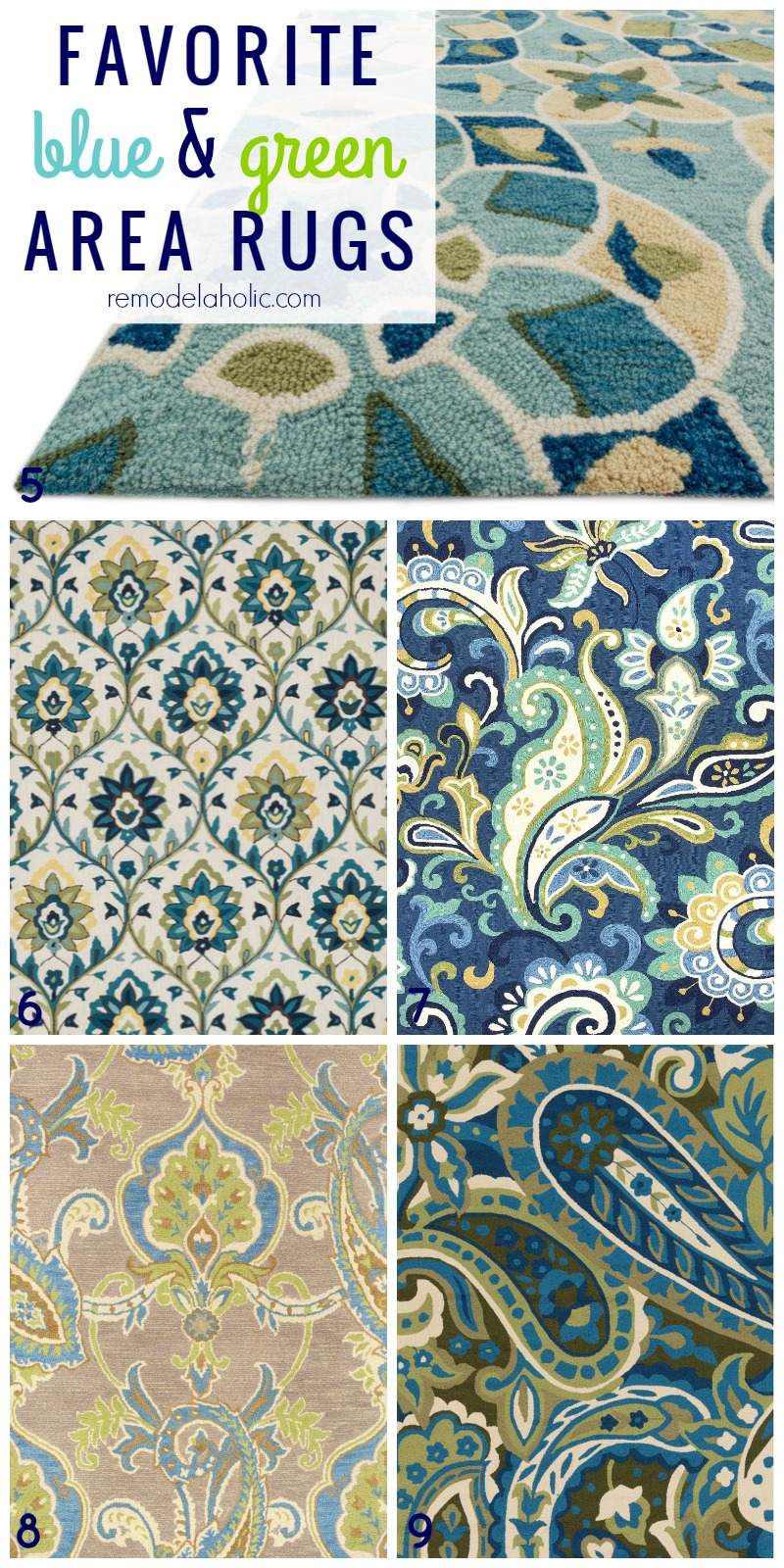 Blue And Green Dining Room: 20+ Green And Blue Area Rugs You'll Love