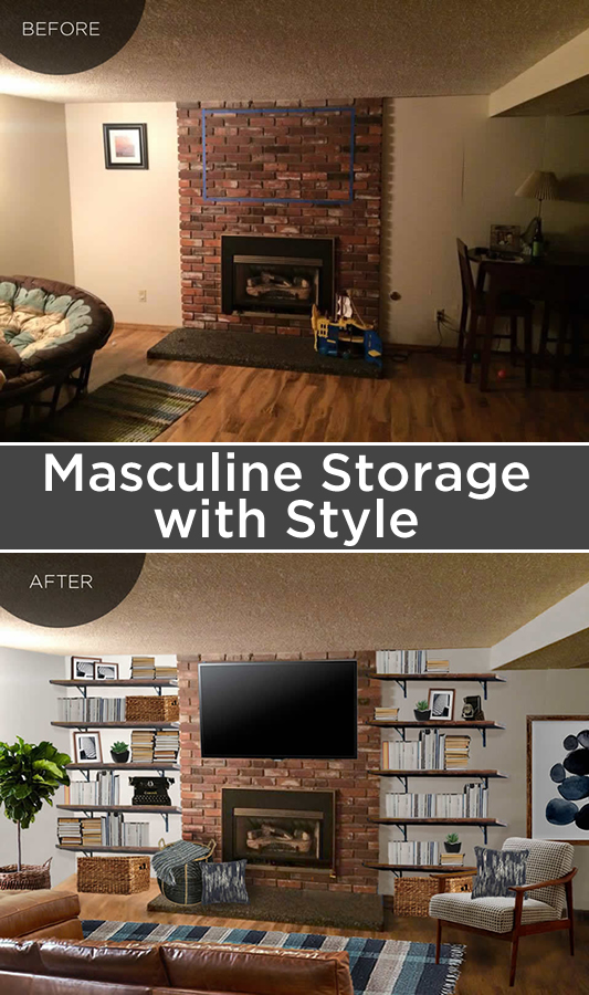 A masculine, rustic, family-friendly space
