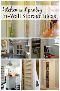 Remodelaholic | 25+ Brilliant In-Wall Storage Ideas For ...