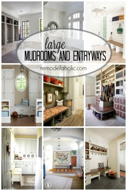 Large Mudrooms and Entryways via remodelaholic.com