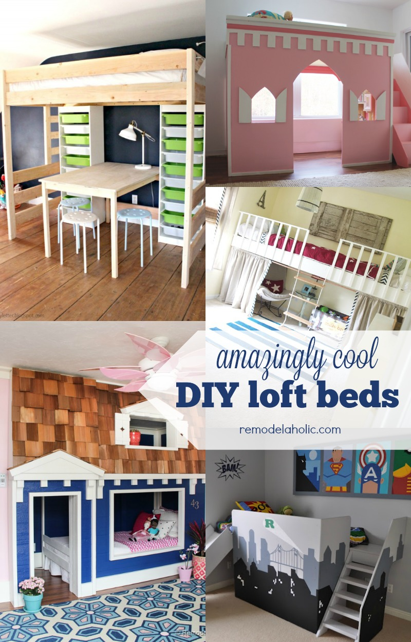 Remodelaholic | 15 Amazing DIY Loft Beds for Kids
