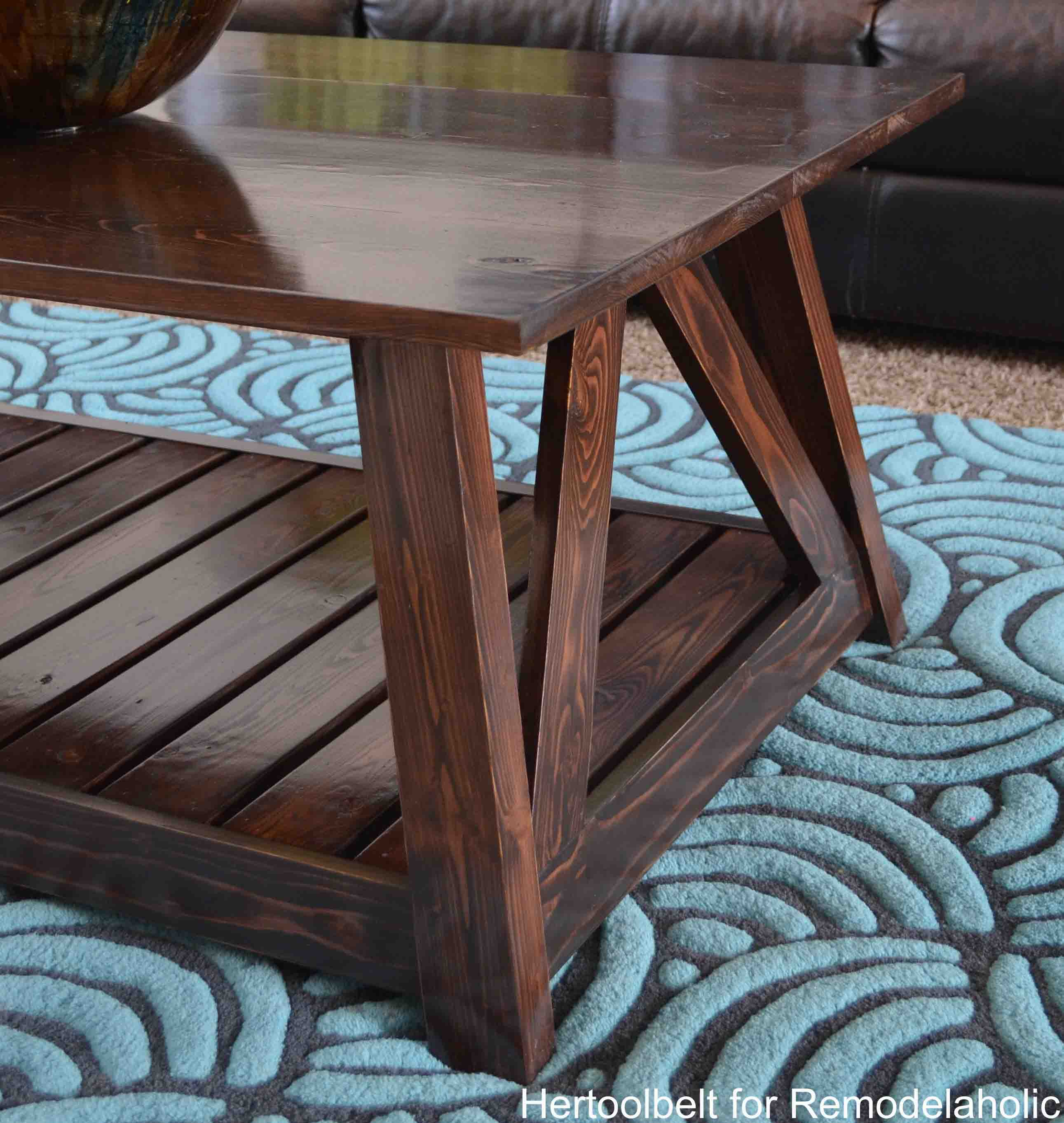Inspired By A Coffee Table In A HGTV Dream Home. I Love The Trapezoid Base