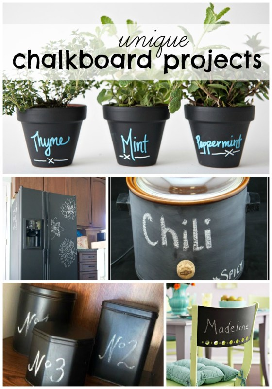Unique Chalkboard Projects at remodelaholic.com