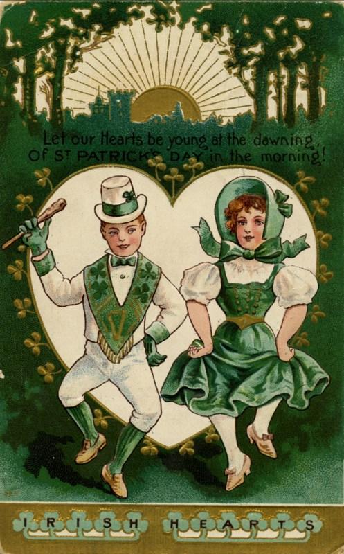 Vintage St. Patrick's Day images for decorations on Flickr via Remodelaholic