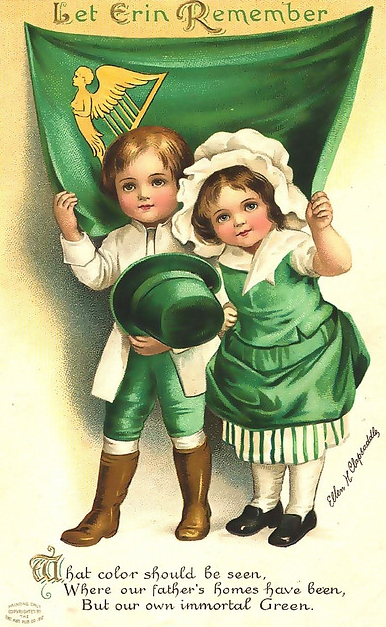 Vintage Images for St. Patrick's Day Decorations from Sweetly Scrapped via Remodelaholic