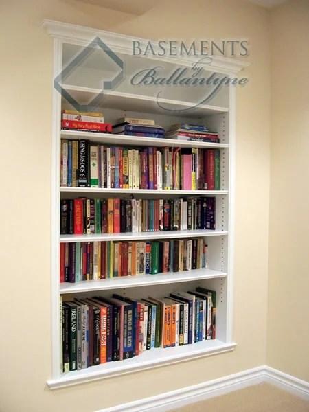 basement mdf bookcase