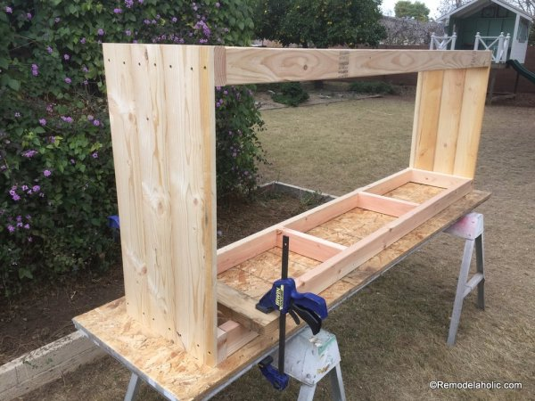 build a farmhouse style planked x tv console or sideboard @Remodelaholic (14)