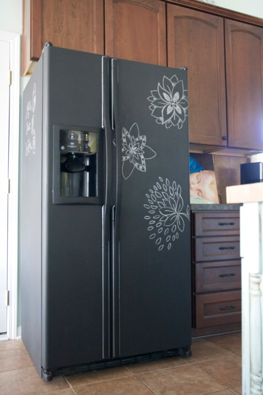 chalkboard fridge redo