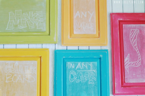colorful chalkboards