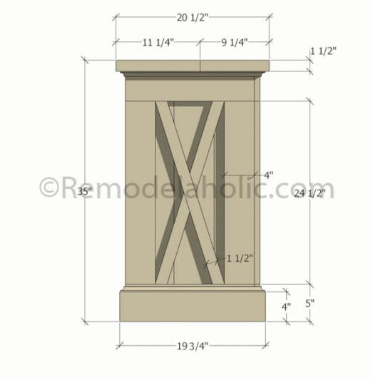 console sideboard table plans-1 @remodelaholic (1) updated