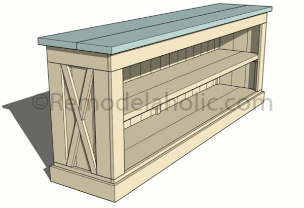 console sideboard table plans-1 @remodelaholic (13)