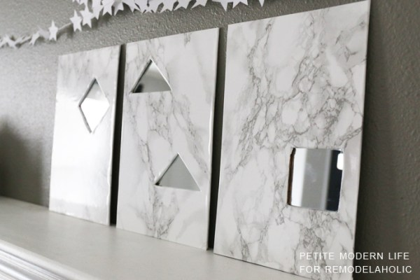 DIY Faux Marble Mirrors