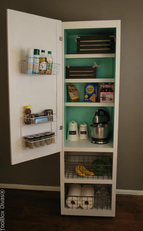 kitchen organization, freestanding portable pantry ToolboxDivas